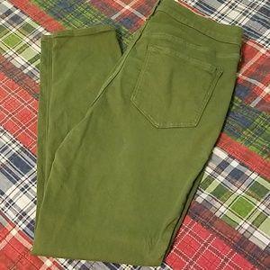 Olive green skinnies